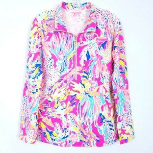 LILLY PULITZER 1/2 zip skipper popover long sleeve